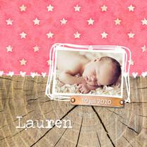 Geboortekaartjes - Geboortekaartje_Lauren_Sterren