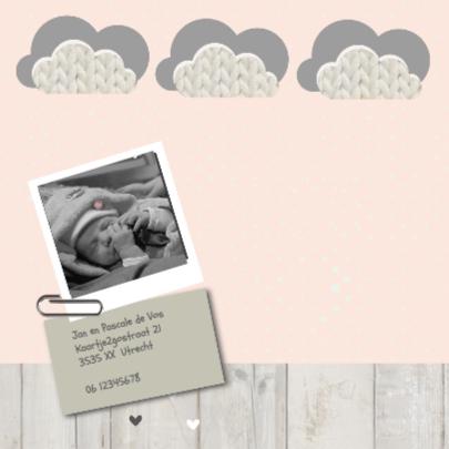 Geboortekaartje Letterbak Huisje 2