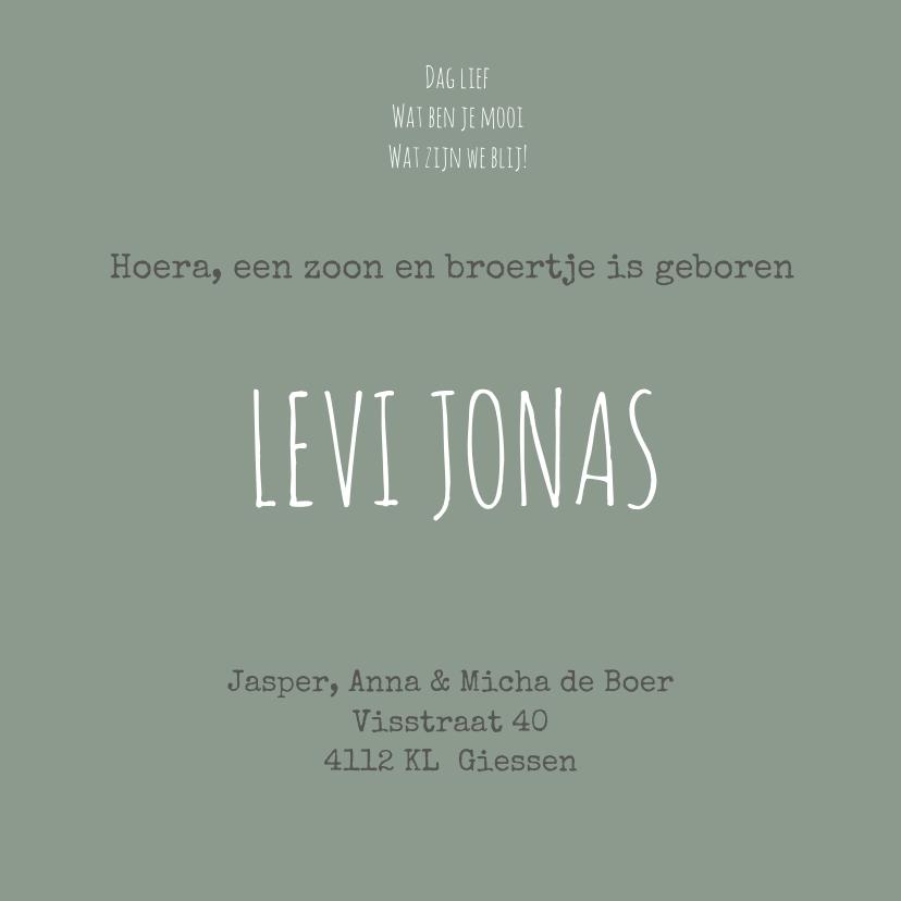 Geboortekaartje Levi Jonas 3