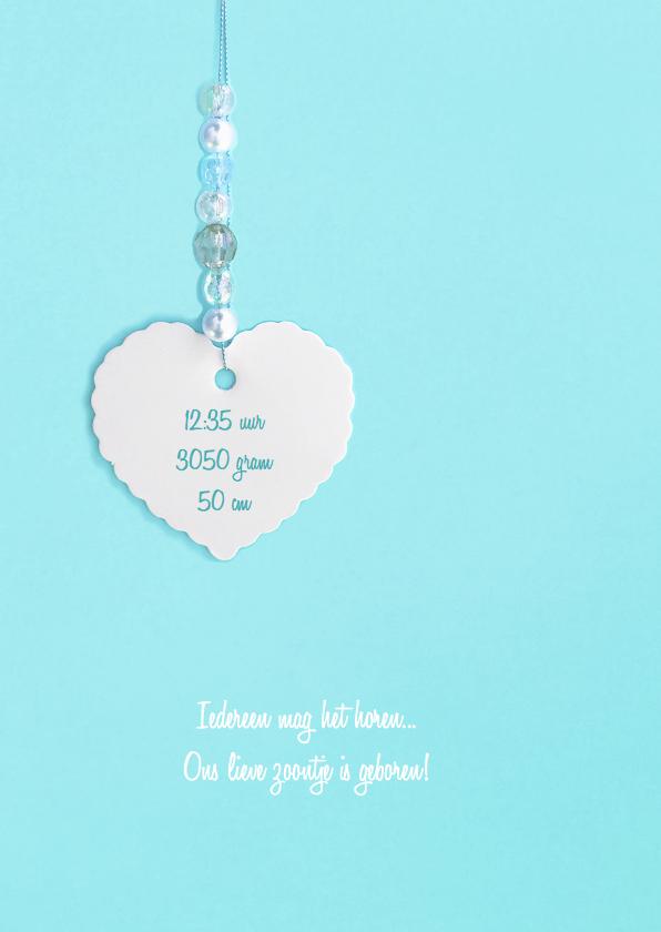 geboortekaartje lief hart kralen 2
