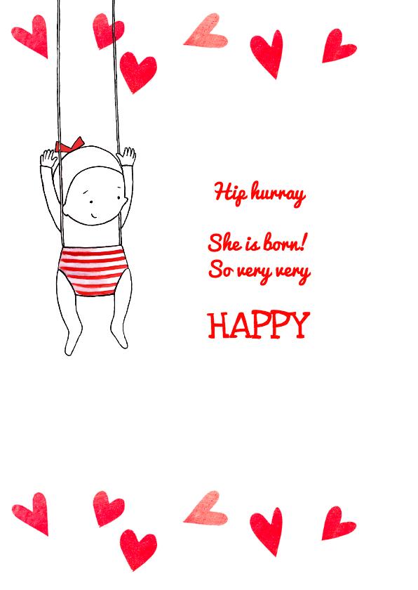 Geboortekaartje lief kindje hart 2
