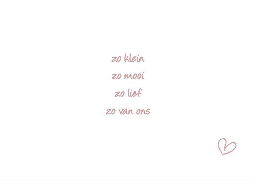Geboortekaartje Lief LFZ 2