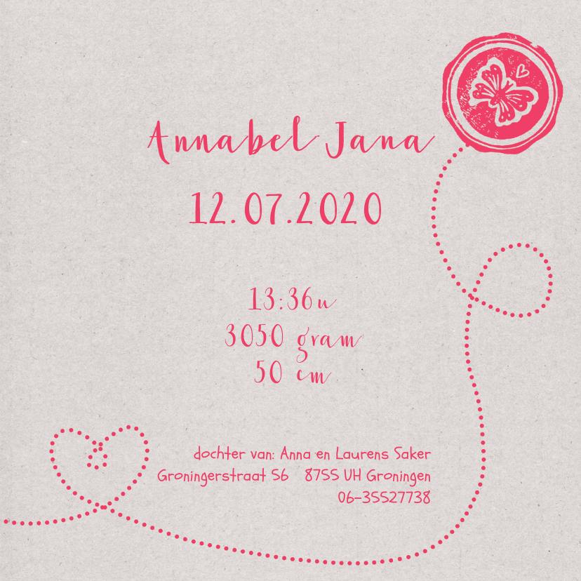 Geboortekaartje lief meisje foto 3
