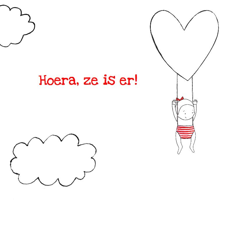 Geboortekaartje lief meisje wolk 2