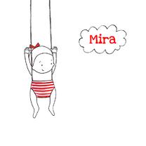 Geboortekaartjes - Geboortekaartje lief meisje wolk