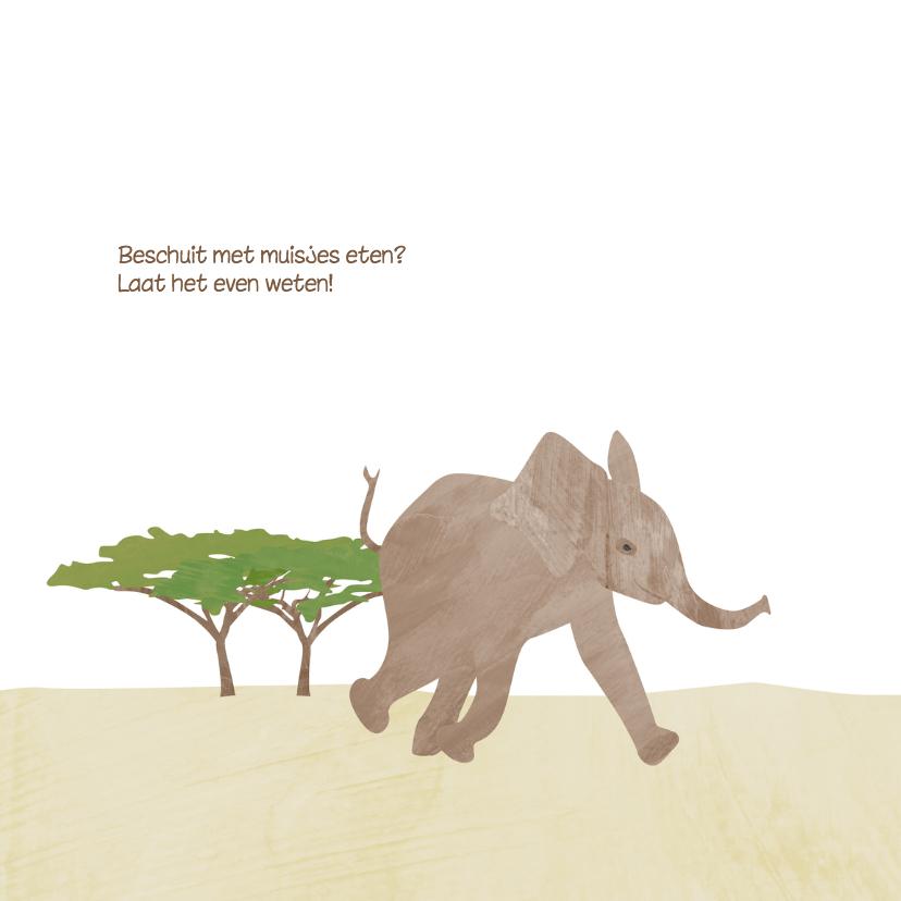 Geboortekaartje lief olifantje 2