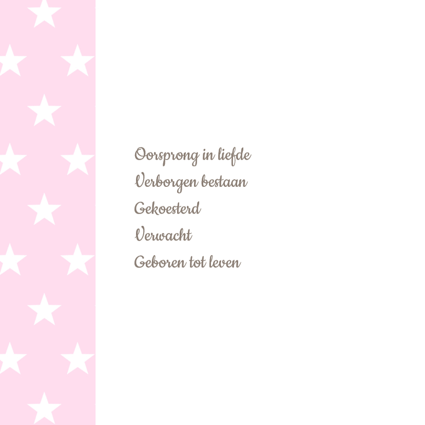 Geboortekaartje Lilly label ster 2