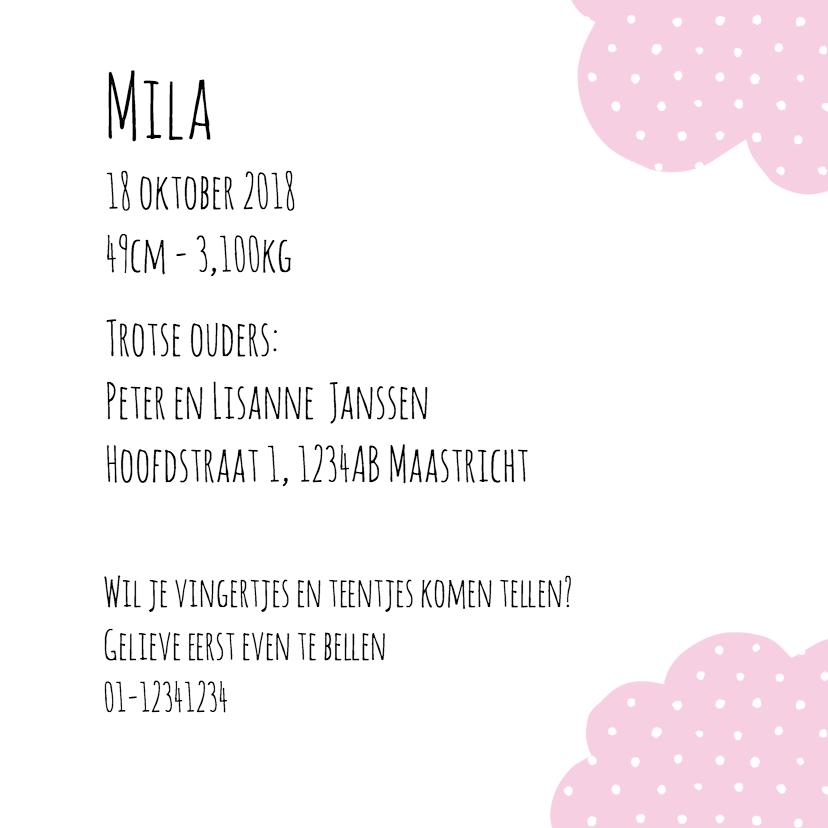 Geboortekaartje Loading Mila 3