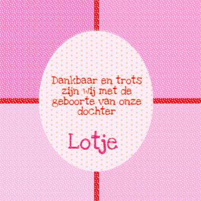 Geboortekaartje Lotje PA 2