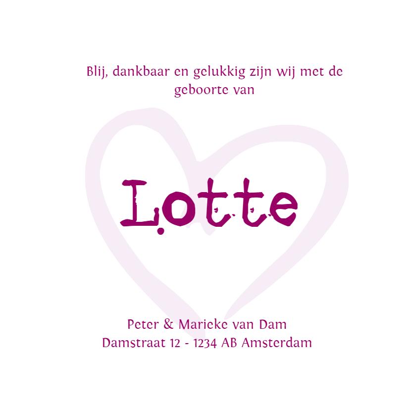Geboortekaartje Lotte LS 3