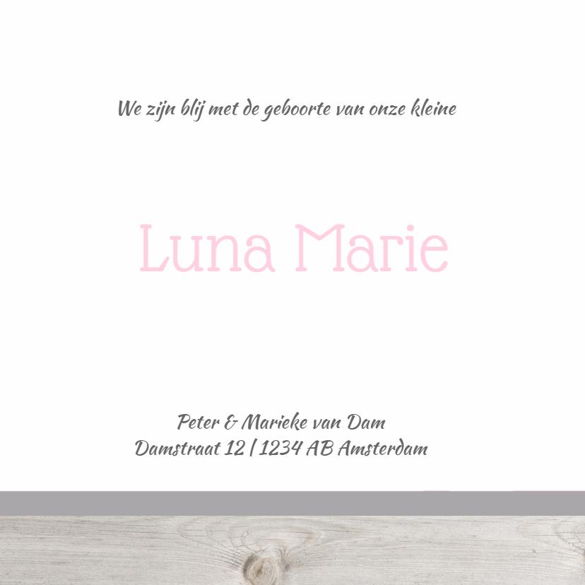 Geboortekaartje Luna label 3