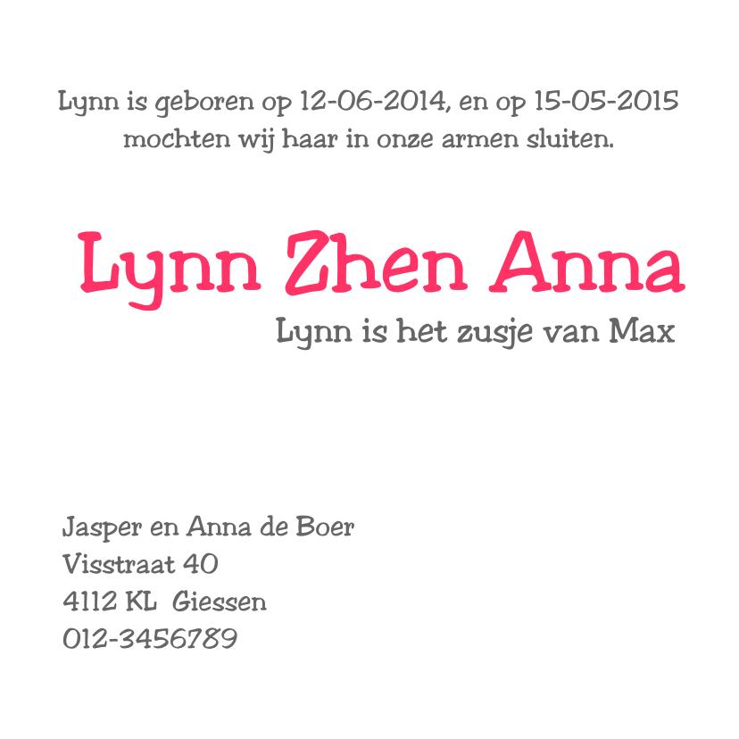 Geboortekaartje Lynn 3