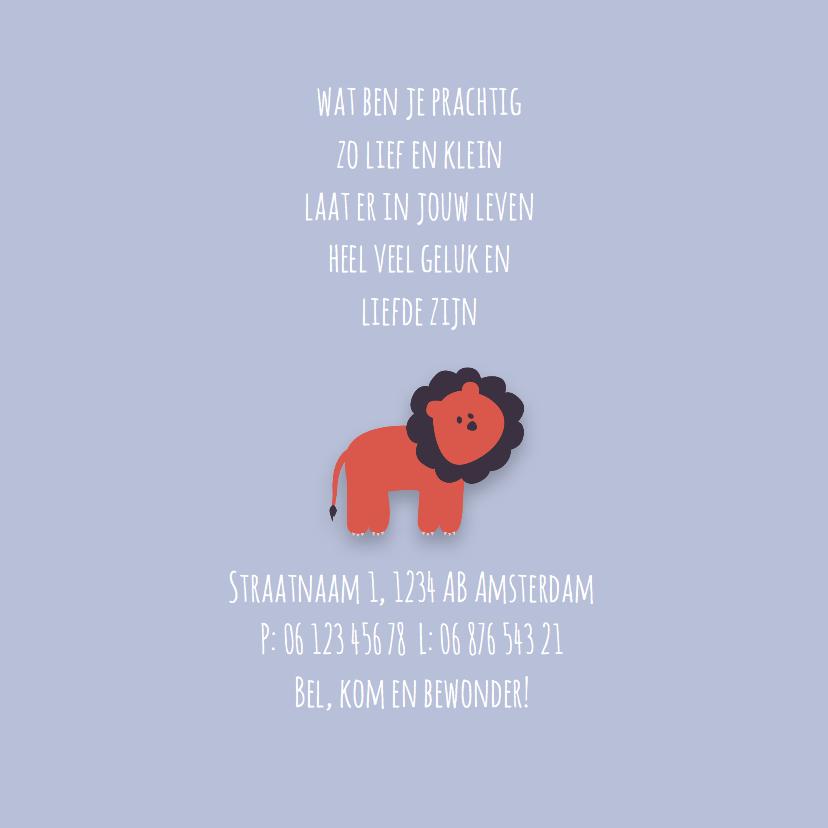 Geboortekaartje | M | Leeuw 2