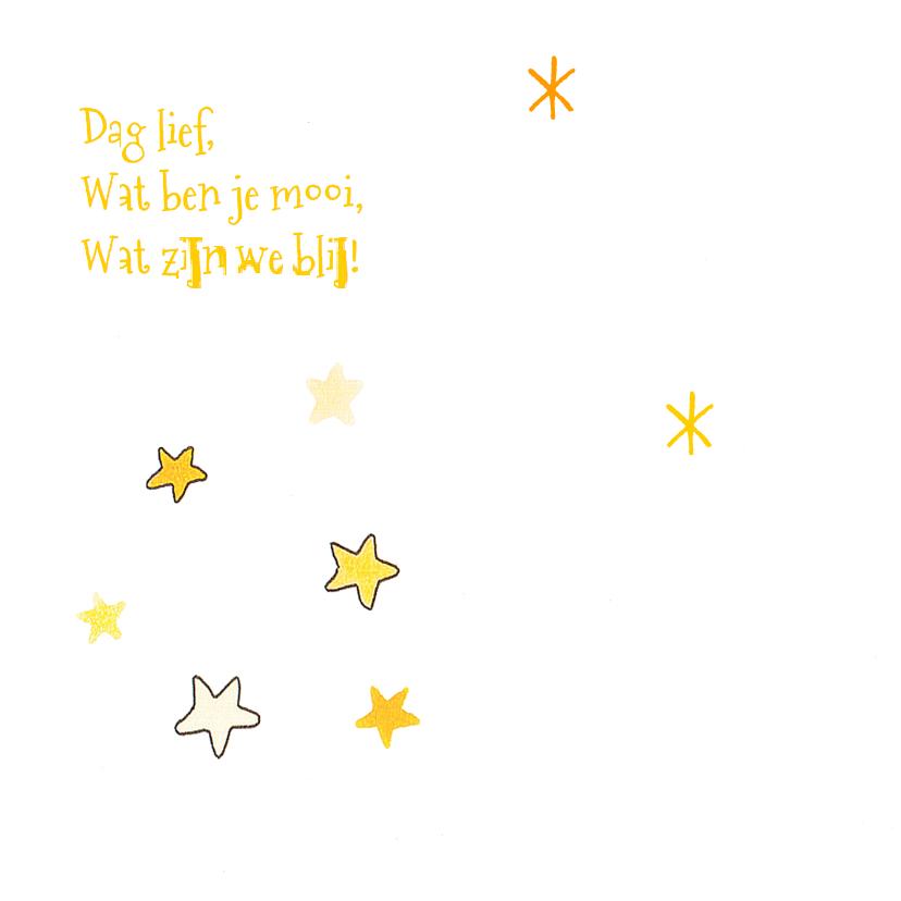 geboortekaartje maan zon sterren 2