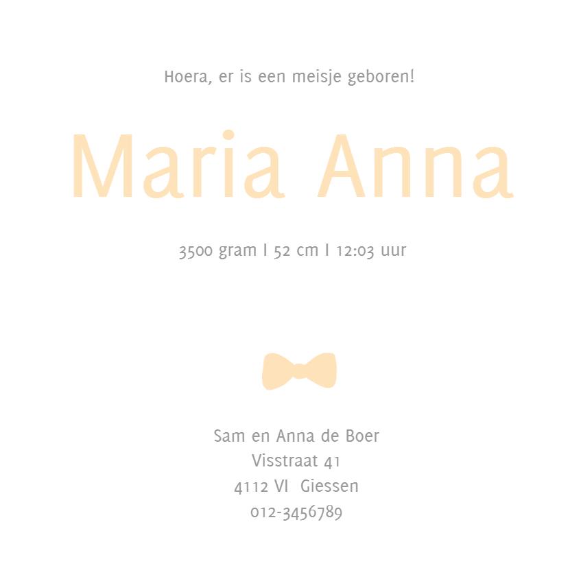 Geboortekaartje Mara - HM 3