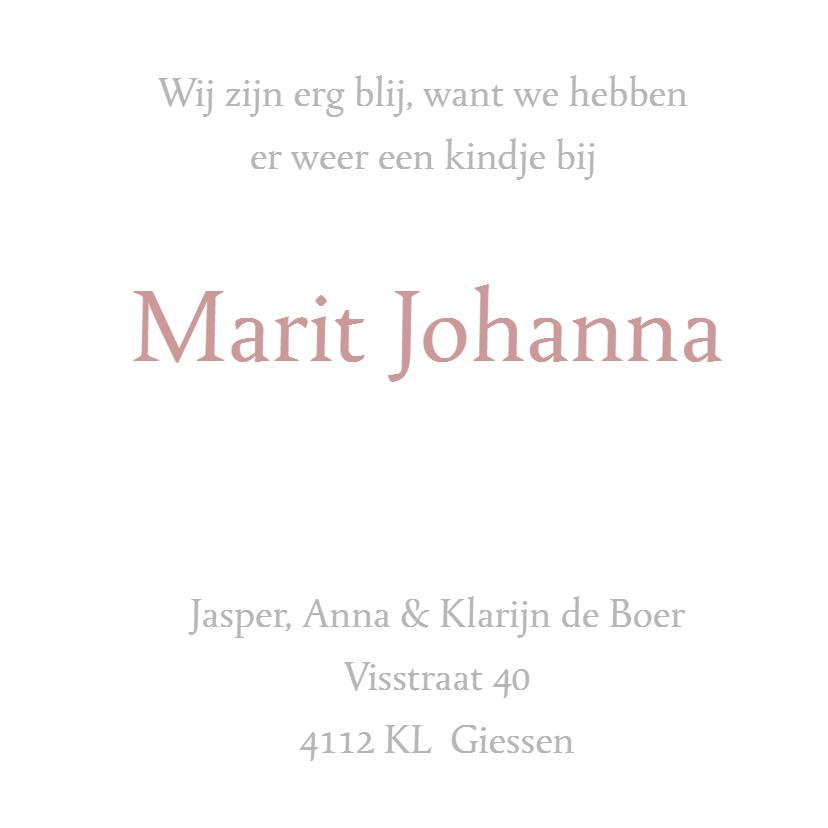 Geboortekaartje Marit 3