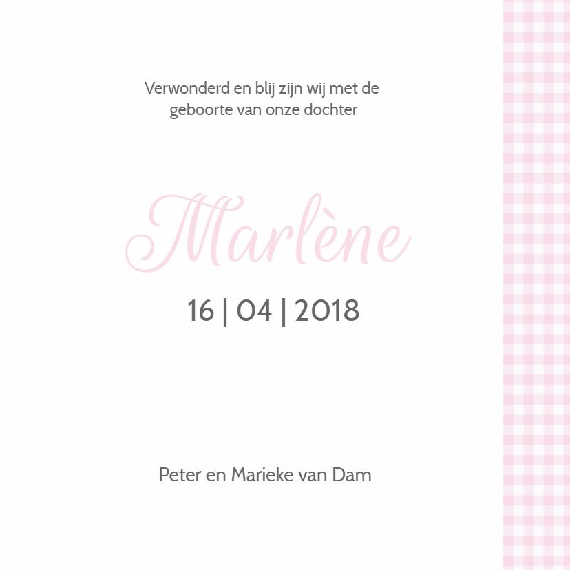Geboortekaartje Marlene kroontje LW 3