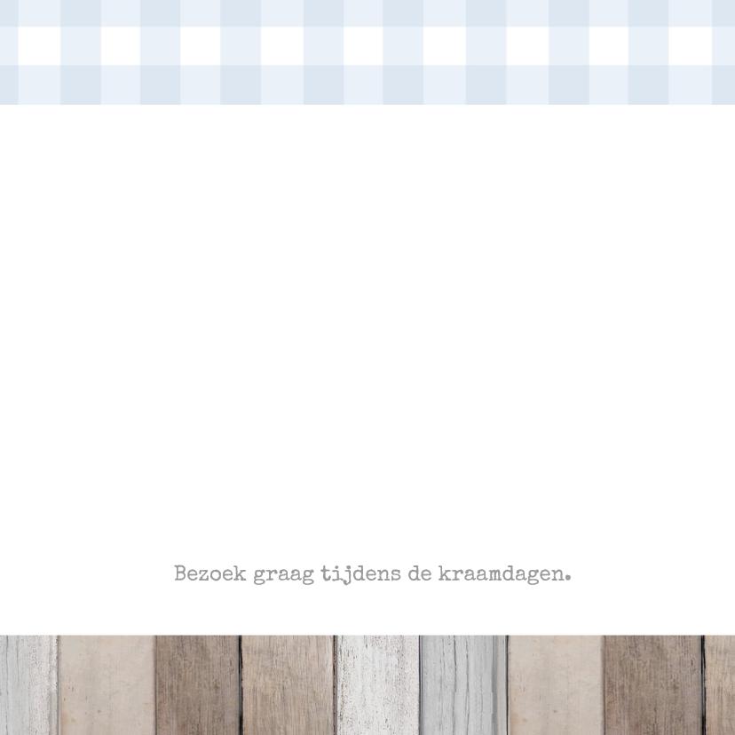 Geboortekaartje Martijn label 2