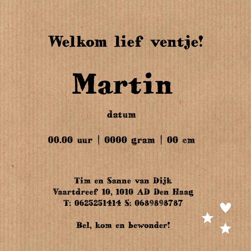 Geboortekaartje Martin wolk LB 3