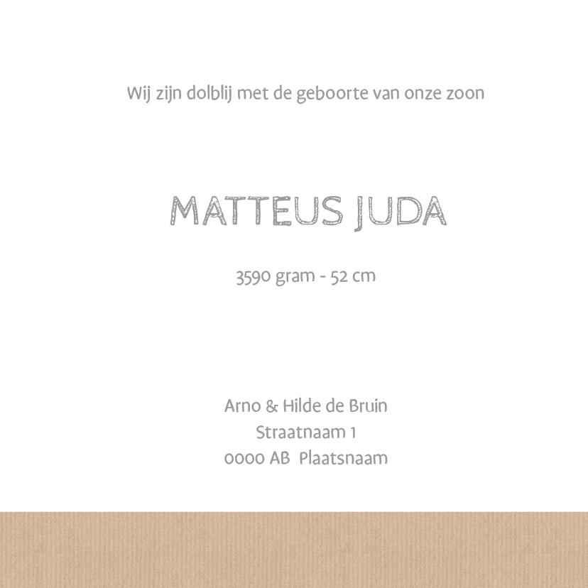 Geboortekaartje Matthew papier 3