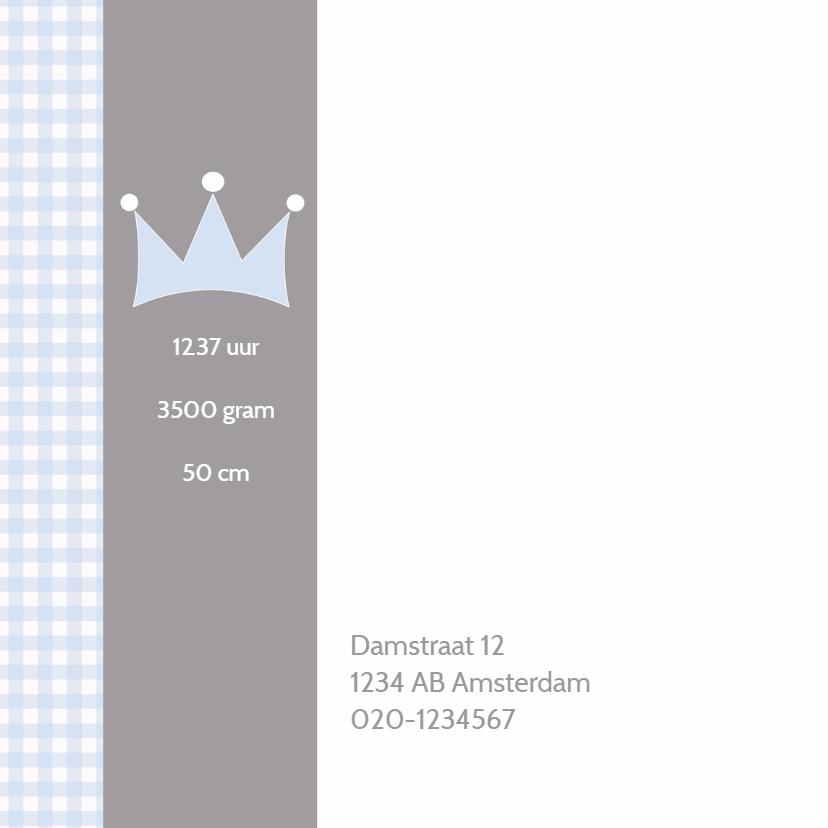 Geboortekaartje Maurits kroon LW 2