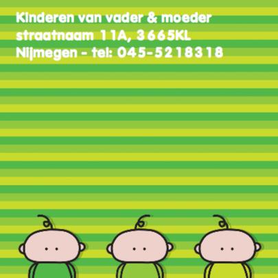 Geboortekaartje Meerling Groen 2