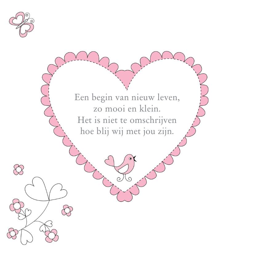 Geboortekaartje meisje bloemen 2