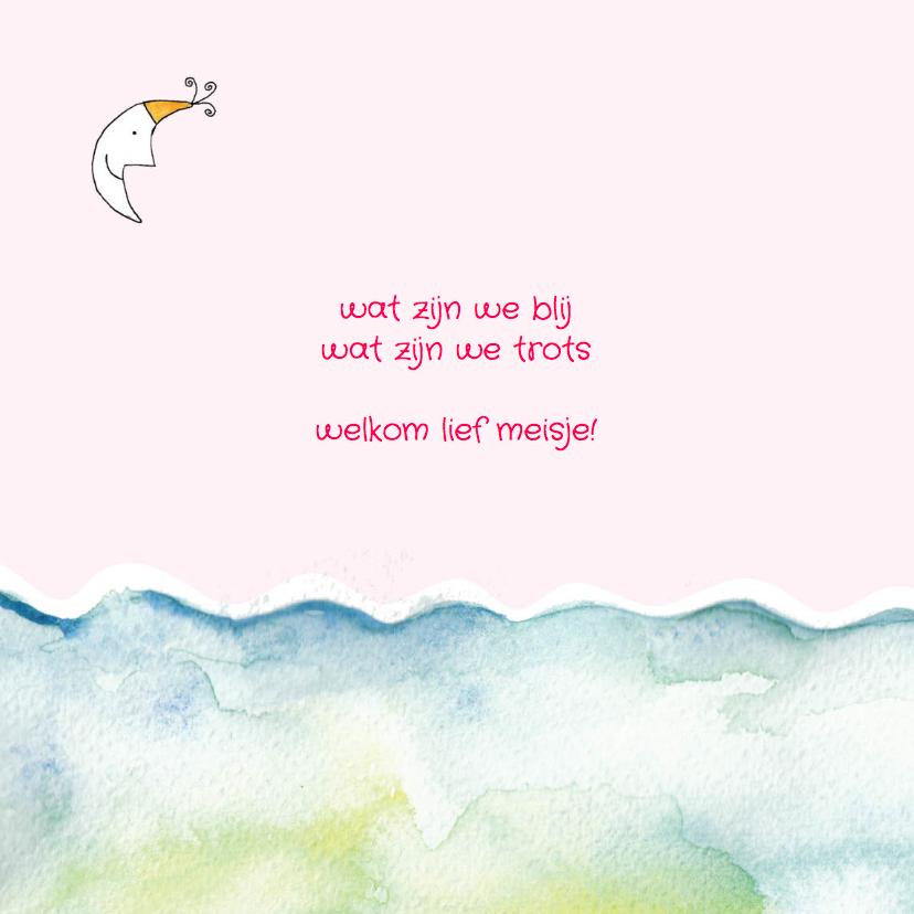 Geboortekaartje meisje zee golf 2