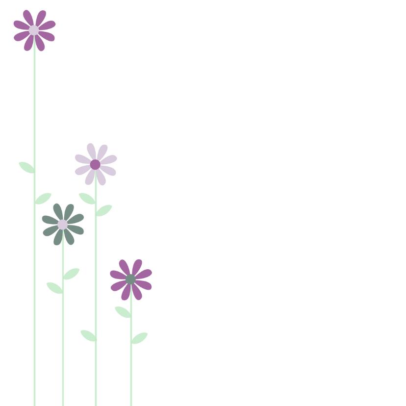 geboortekaartje met bloemen 2