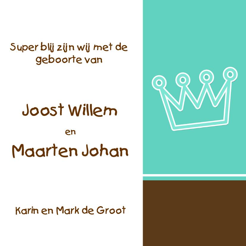 Geboortekaartje met een kroon 3