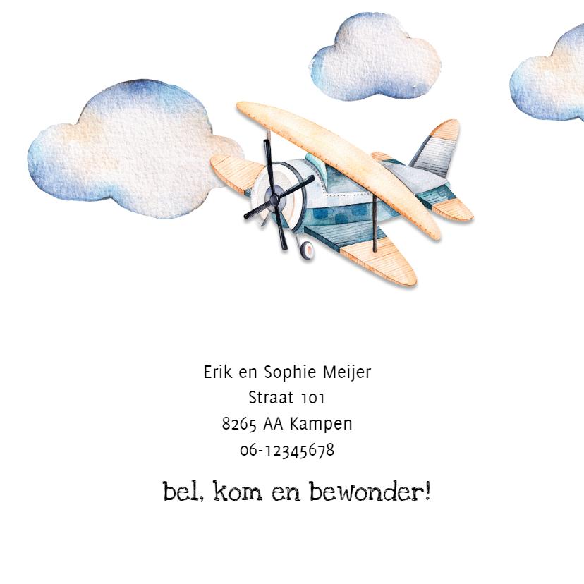 Geboortekaartje: met een stoer vliegtuig 2