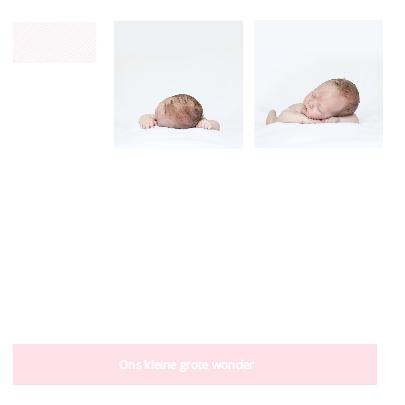 Geboortekaartje met eigen foto 2