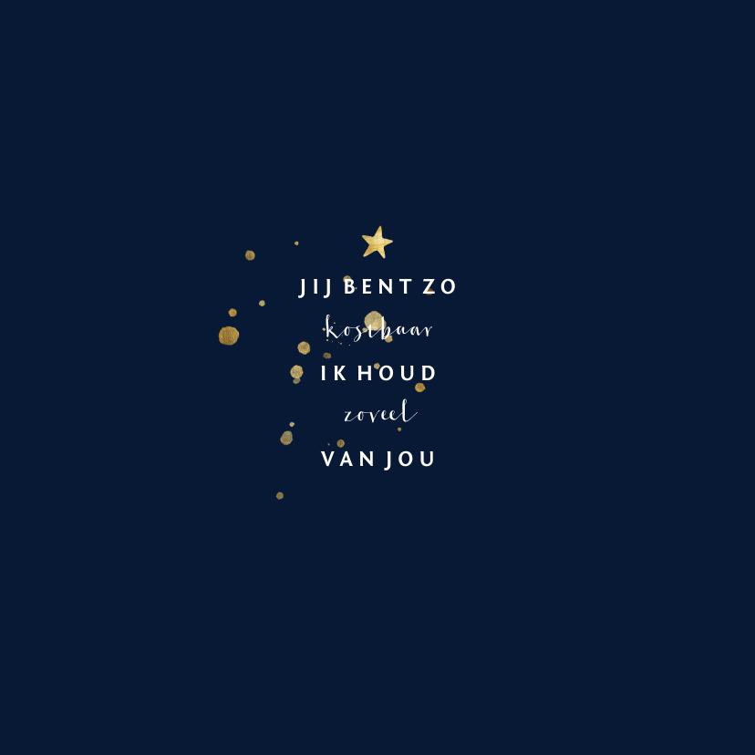 Geboortekaartje met gouden spetters en sterren 2