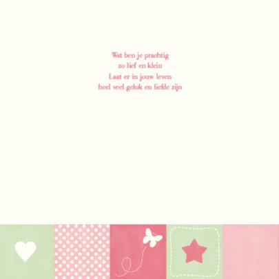 Geboortekaartje Mint & Pink Girl 2