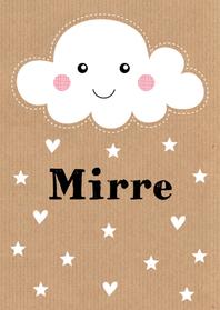 Geboortekaartjes - Geboortekaartje Mirre wolk LB