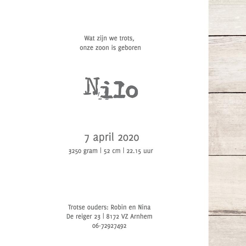Geboortekaartje Nilo 3