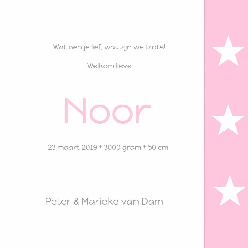 Geboortekaartje Noor ster 3