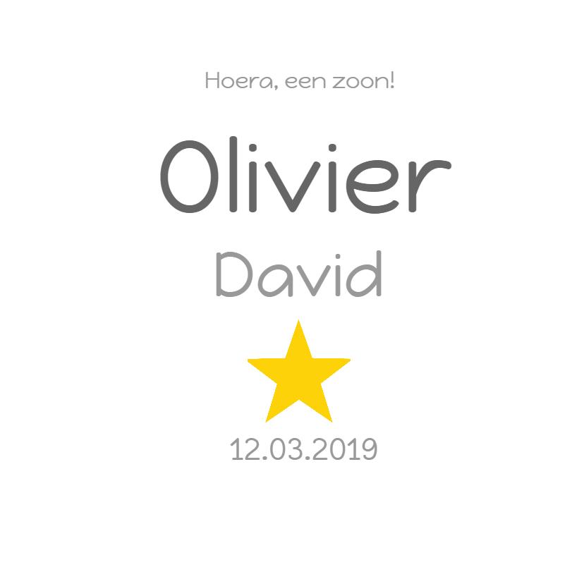Geboortekaartje Olivier sterren 3