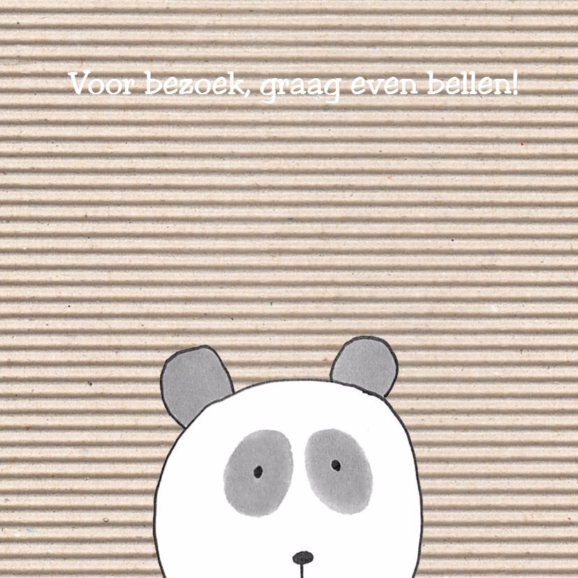 geboortekaartje panda op ribbels 2