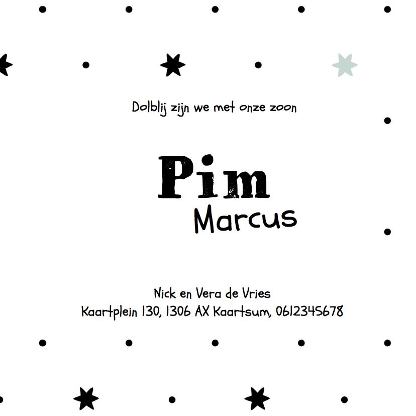 Geboortekaartje Pim - LO 3