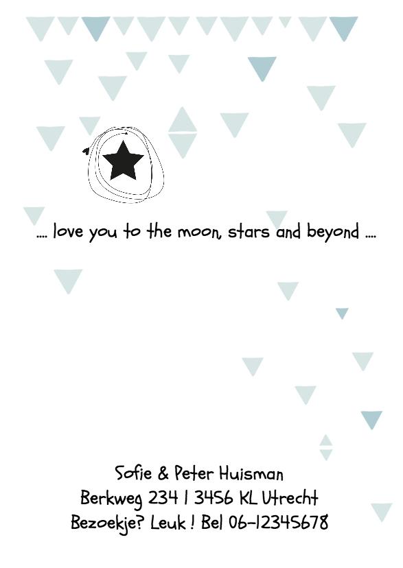 Geboortekaartje Poster Lukas 2