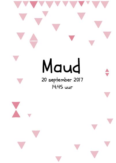 Geboortekaartje Poster Maud 3