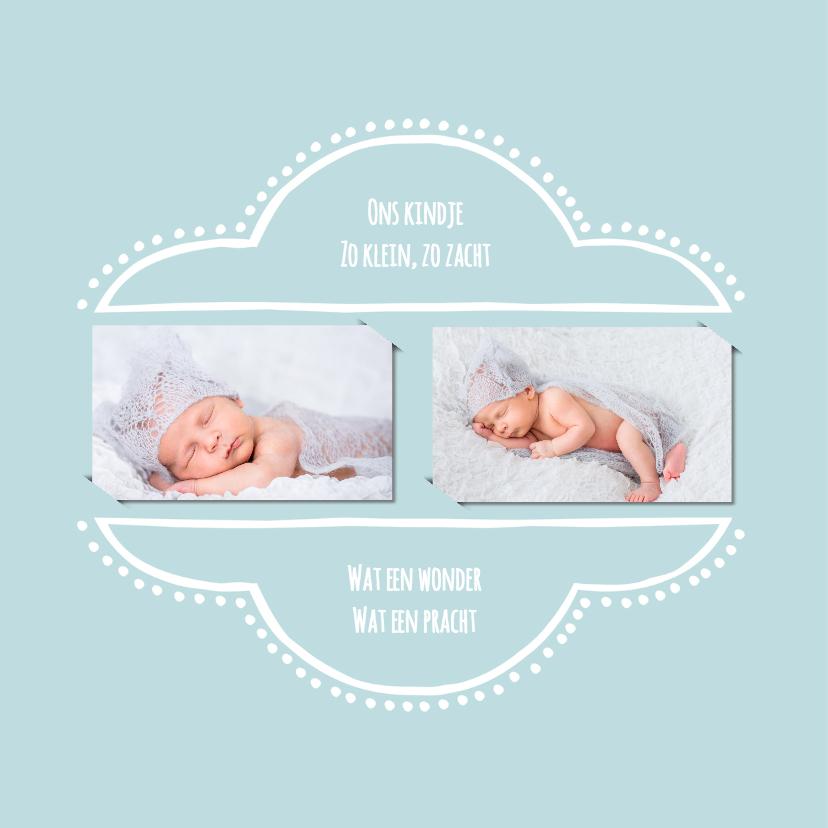Geboortekaartje retro blauw 2 OT 2