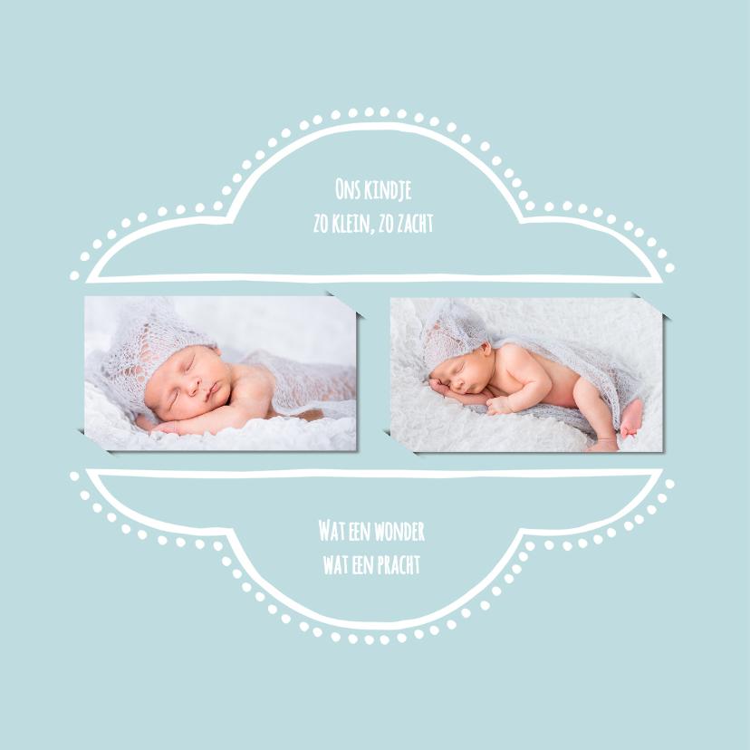Geboortekaartje retro blauw OT 2