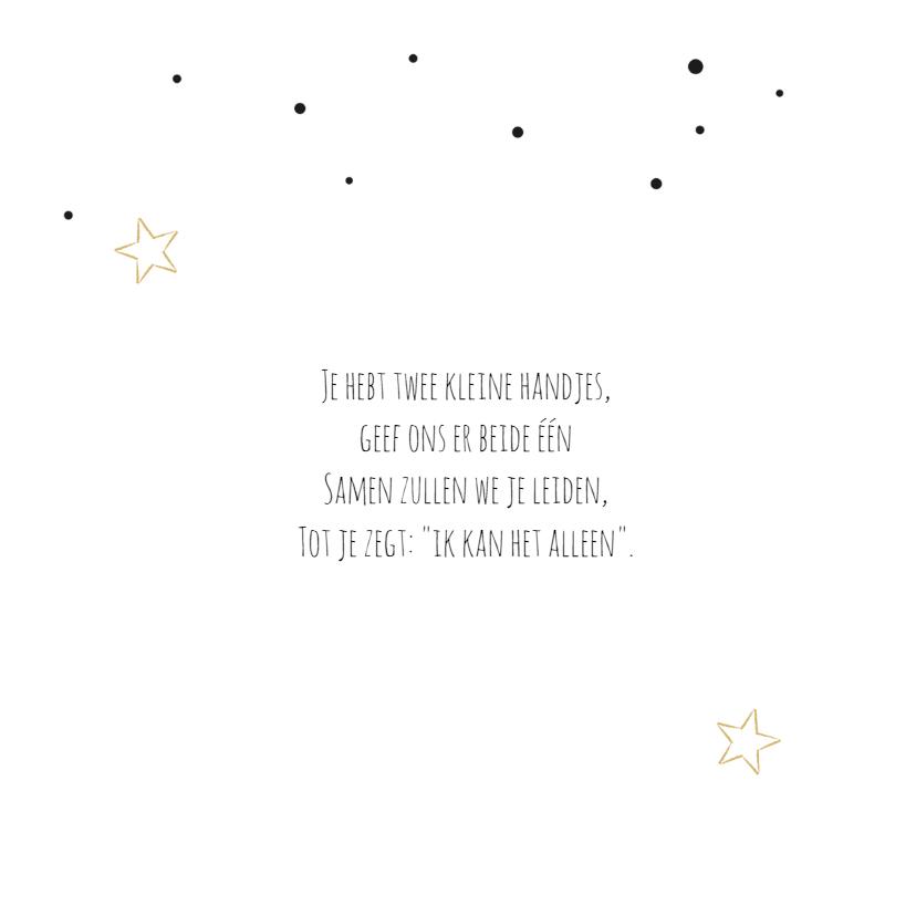 Geboortekaartje Robin stipjes 2