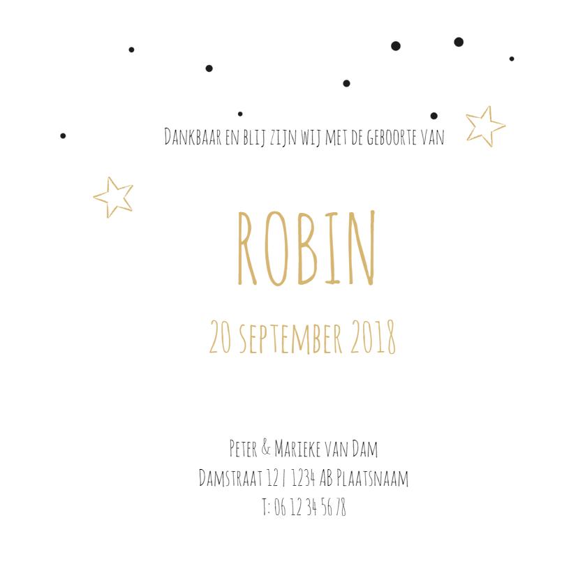 Geboortekaartje Robin stipjes 3