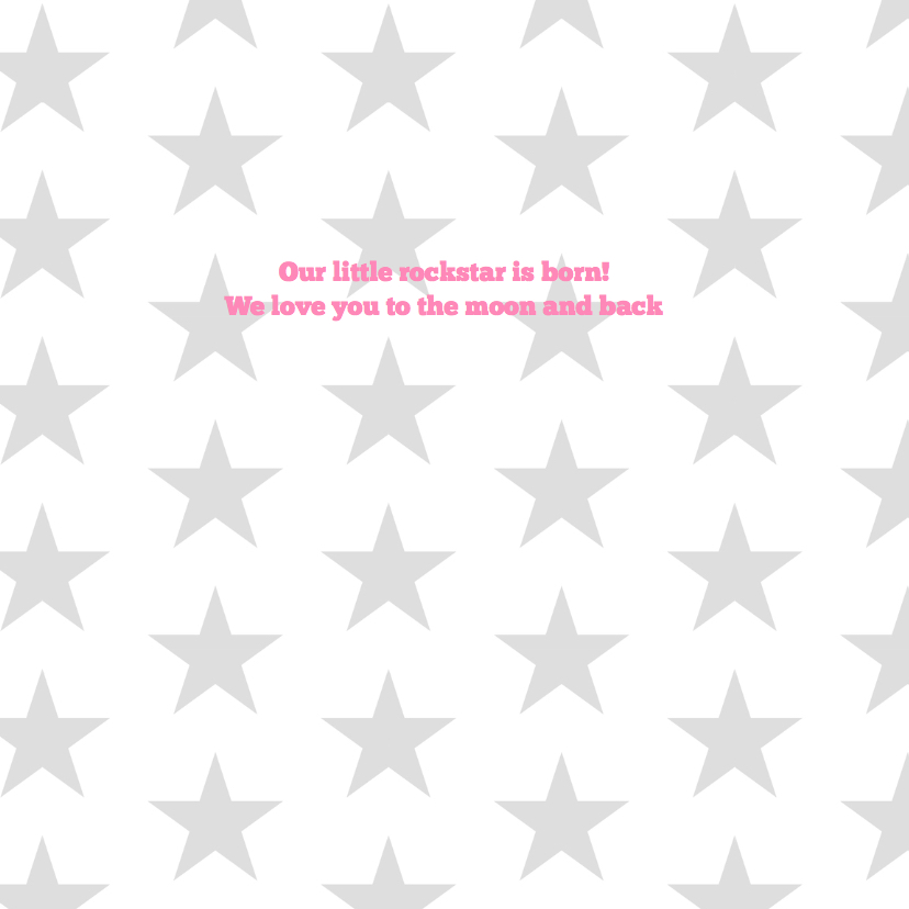Geboortekaartje rockstar girl 2
