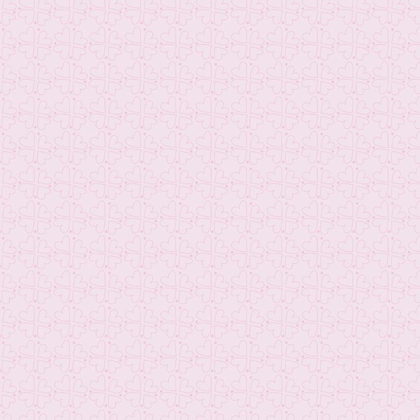 Geboortekaartje roze hart PA 2