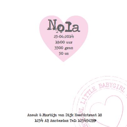 Geboortekaartje Roze Muisjes 3