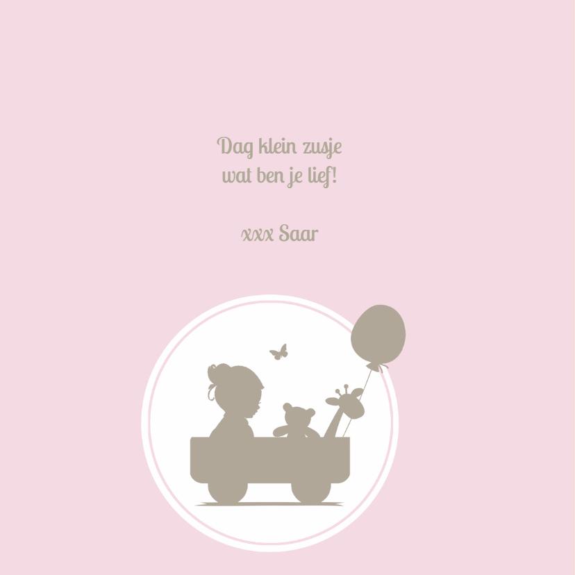 Geboortekaartje ruit silhouet 2